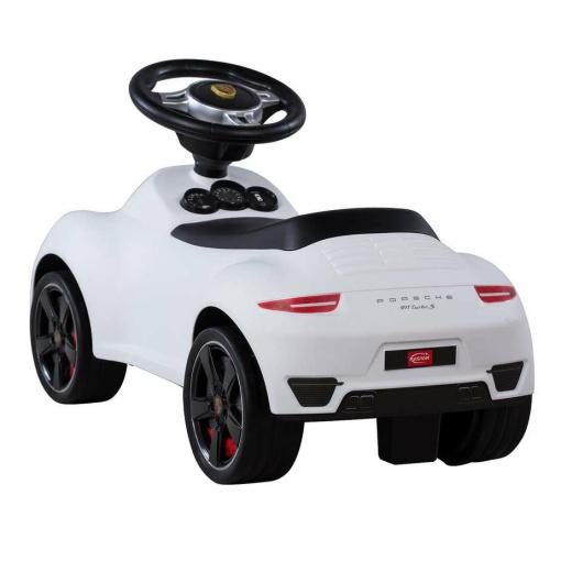 White Licensed Porsche 911 Foot to Floor Ride on Car