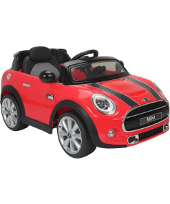 Licensed 12v Ride On Electric Red Mini Cooper Car with Parental Remote Control-0