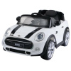Licensed 12v Ride On Electric White Mini Cooper Car with Parental Remote Control-0