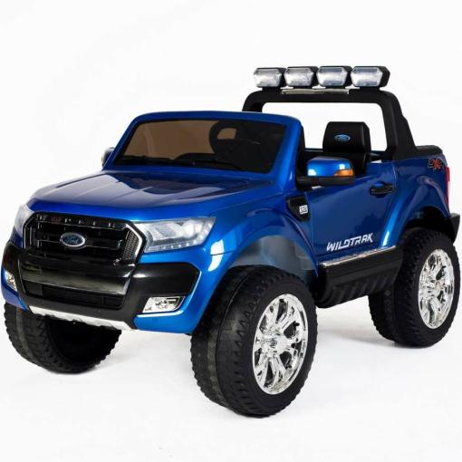 Blue 12v Licensed Ford Ranger Pickup Truck Ride on 2 seater-0