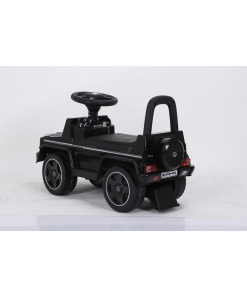 Black Licensed Mercedes G63 AMG Foot To Floor Push Along Ride On