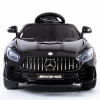 Mercedes GT R AMG Ride on car in black 12v electric car front