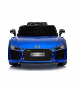 12v Blue audi r8 spyder ride on car front led lights