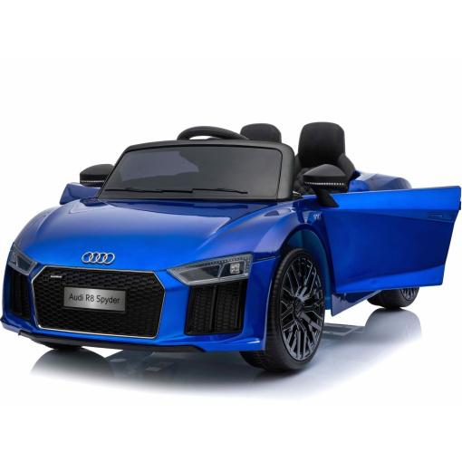 12v Blue audi r8 spyder ride on car opening doors