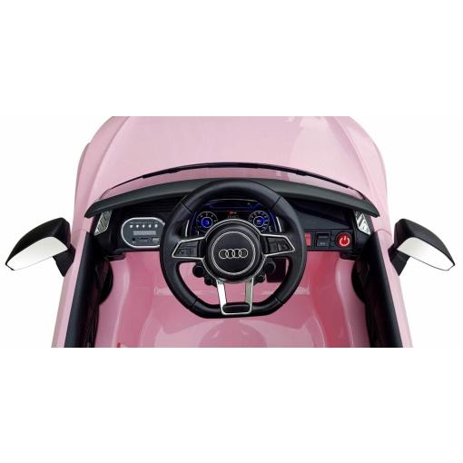 12v Blue audi r8 spyder ride on car interior