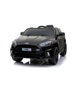 Black 12v Ford Focus RS kids ride on car with opening doors