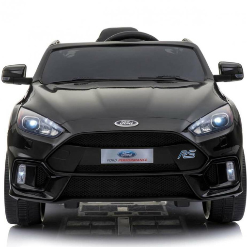 Black 12v Ford Focus RS kids ride on car with parental remote control