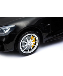 12v 2 Seater Mercedes GT R AMG Electric RIde on Car in black with alloys