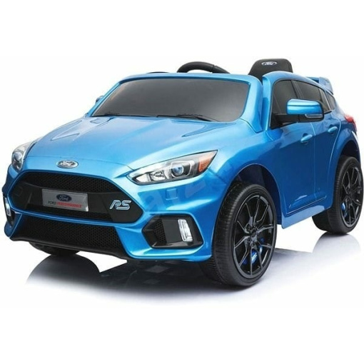 Blue 12v Ford Focus RS kids ride on car with parental remote control