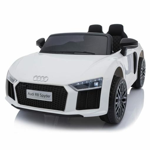 12v White audi r8 spyder ride on car