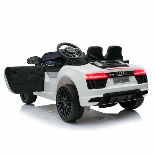 12v White audi r8 spyder ride on car with opening doors