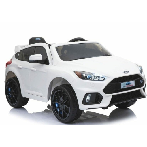 White 12v Ford Focus RS kids electric ride on car