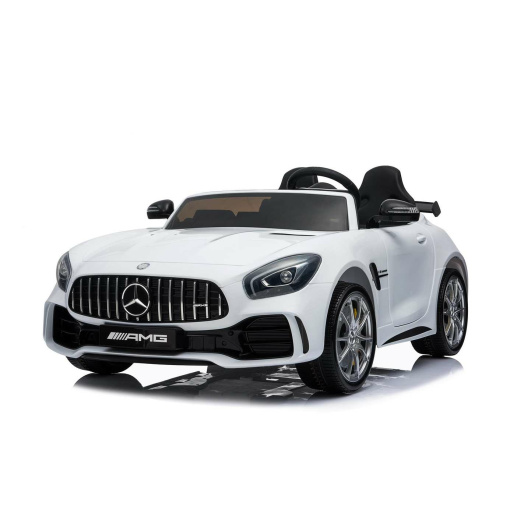 12v 2 Seater Mercedes GT R AMG Electric RIde on Car in white