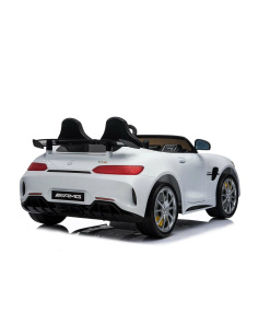 12v 2 Seater Mercedes GT R AMG Electric RIde on Car in white rear led lights