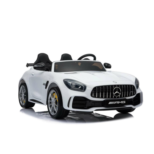 12v 2 Seater Mercedes GT R AMG Electric RIde on Car in white with parental remote