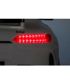 12v 2 Seater Mercedes GT R AMG Electric RIde on Car in white with working lights