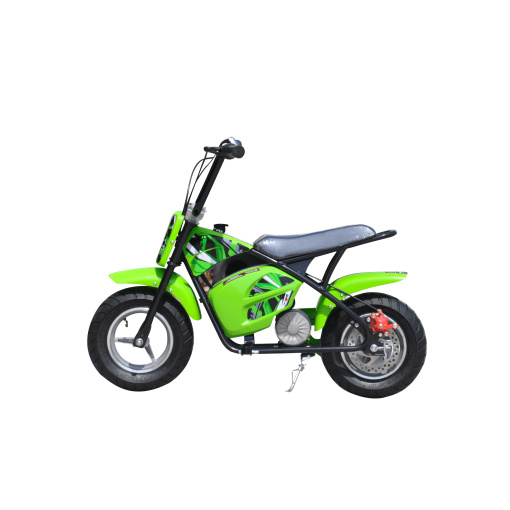 green 250w electric mini moto dirt bike