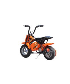 orange 250w electric mini moto dirt bike
