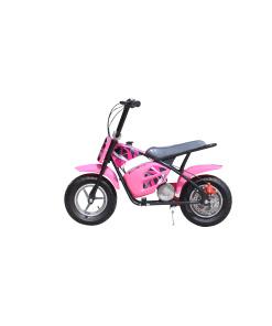 pink 250w electric mini moto dirt bike