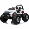 Ford Ranger Monster Truck Ride on 2 seater 24v in White with MP4 TV Leather Seat and Rubber Wheels-0