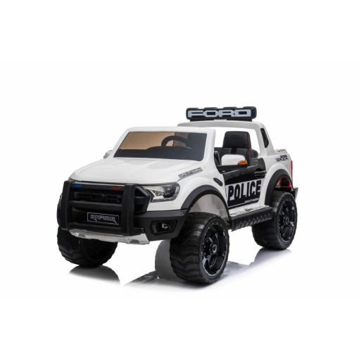 FORD RAPTOR POLICE WHITE RIDE IN KIDS ELECTRIC CAR WITH REMOTE