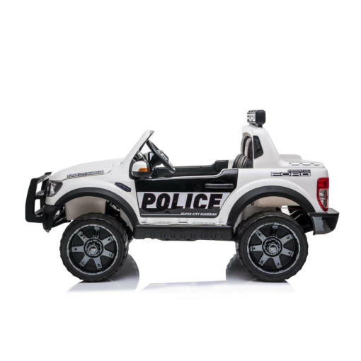 2 SEATER POLICE KIDS RIDE ON ELECTRIC CAR WHITE
