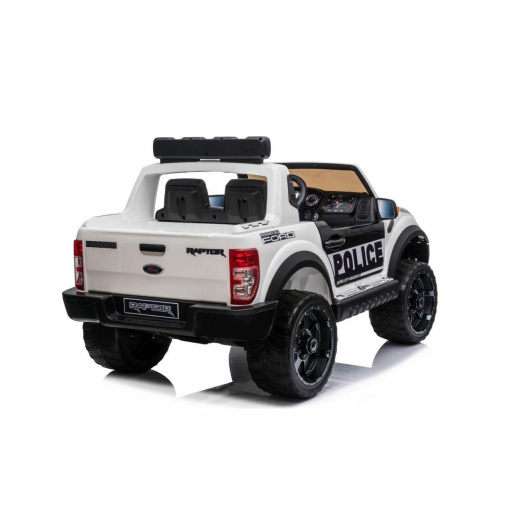 KIDS POLICE WHITE JEEP RIDE ON CAR
