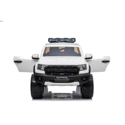 FORD RAPTOR WHITE RIDE IN KIDS ELECTRIC CAR WITH REMOTE