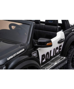 2 SEATER POLICE KIDS RIDE ON ELECTRIC CAR BLACK