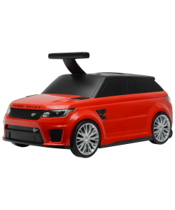 Red Official Licensed Range Rover Sport SVR 2 in 1 Foot to Floor Push Along Ride on Car and Luggage Suitcase