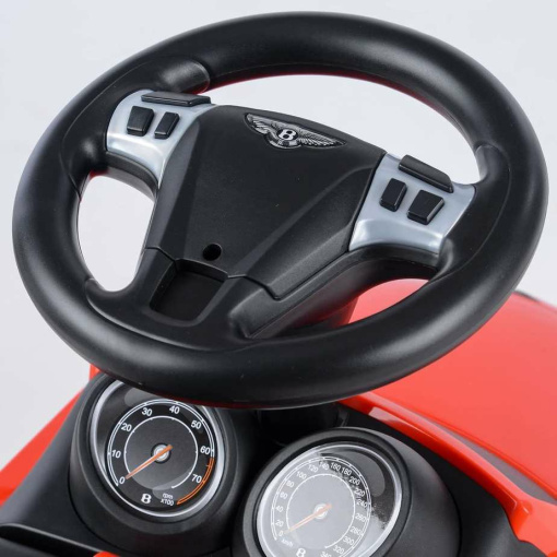 Red Licensed Bentley GT Foot to Floor Push Along Ride on