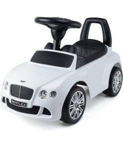 White Licensed Bentley GT Foot to Floor Push Along Ride on