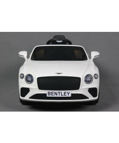 12v White Bentley Continental GT ride on kids car