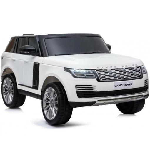 kids white range rover vogue ride on car