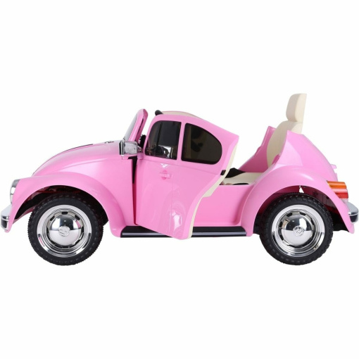 KIDS RIDE ON ELECTRIC RETRO BEETLE CAR 12V WITH PARENTAL REMOTE IN PINK-2775