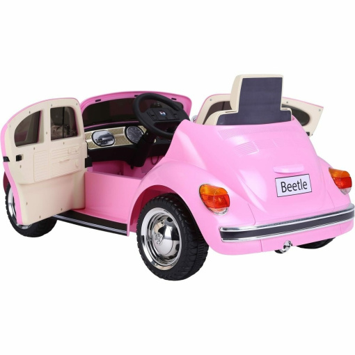 retro-pink-kids-electric-ride-on-car