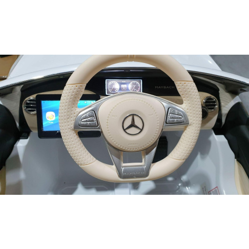 leather steering kids ride on car mercedes maybach