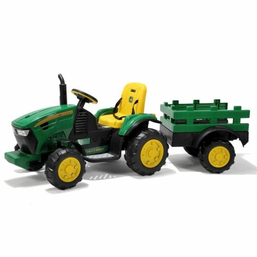kids electric farm tractor and trailer