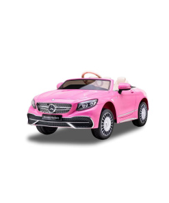 Hot Pink Mercedes kids ride on car with remote