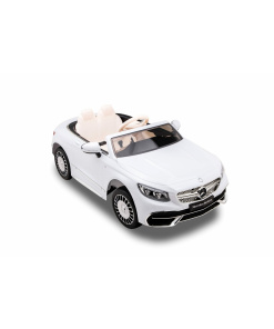 White Mercedes kids ride on car with remote