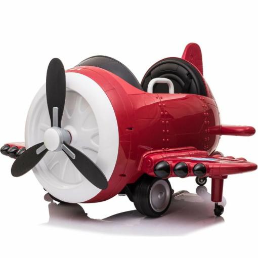 12v aeroplane ride on electric kids red