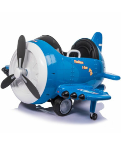 12v-children-s-ride-on-stunt-plane-battery-operated-electric-toy-blue
