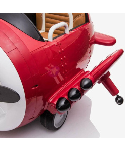 ride on aeroplane for kids with remote Red