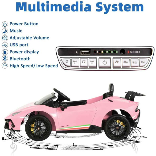 Kids ride on electric car pink