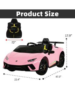 Lamborghini Pink Kids ride on car