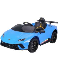 Toddlers ride on Blue car Lamborghini