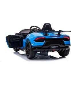Blue Electric ride on Lamborghini Huracan car
