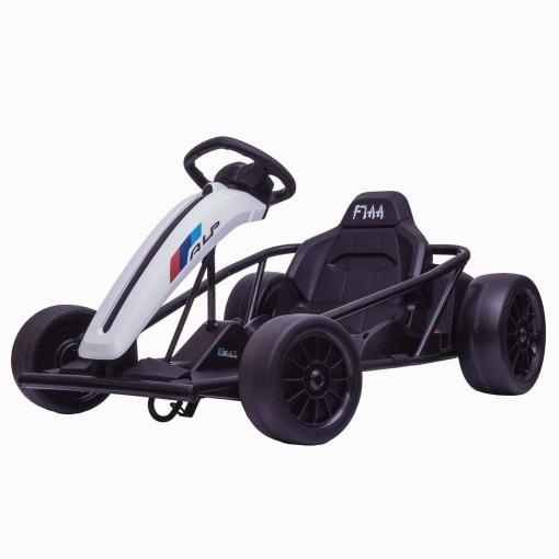 white drift go kart