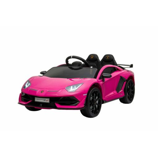 Pink lamborghini svj ride on car for kids