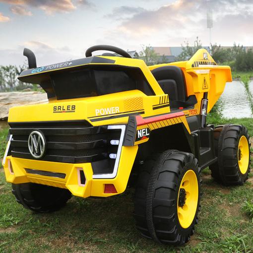 yellow kids mining truck